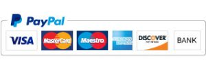 Pay safely with Paypal or Creditcard